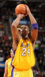 Kobe Bryant at free throw