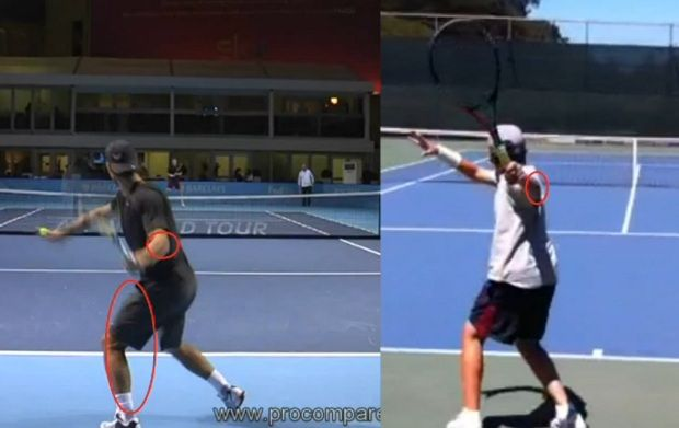 Forehand backswing comparison