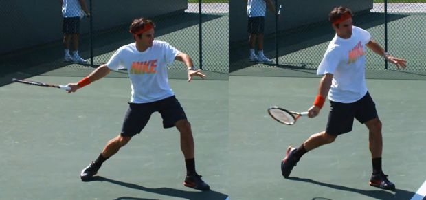 Tennis forehand hip rotation