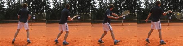 Timing of a tennis forehand stroke