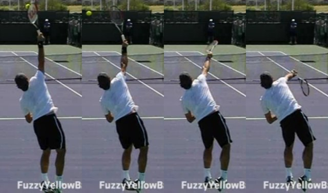 Slice serve pronation