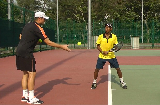 Forehand contact point drill