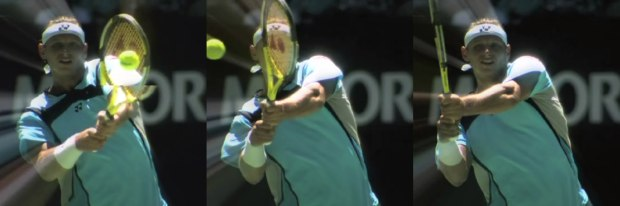 Shoulder height backhand
