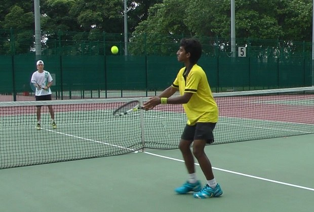 tennis stop volley drill
