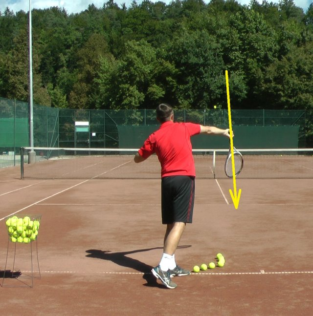 serve swing path with pronation