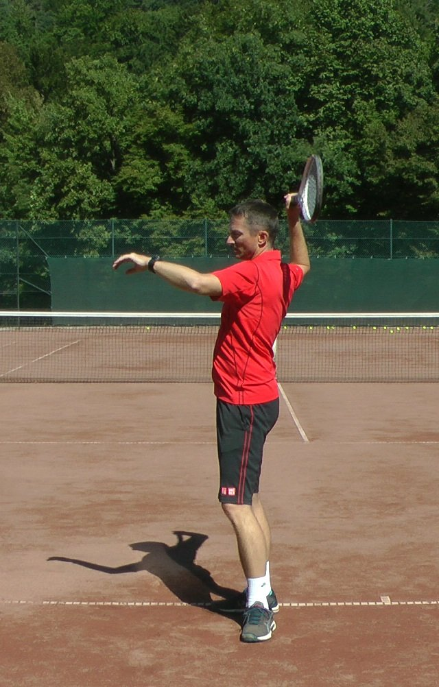 tennis serve drill