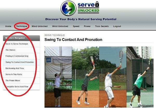 tennis serve video course