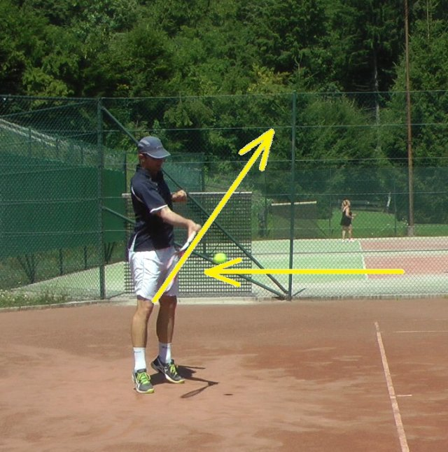 difficult topspin tennis stroke