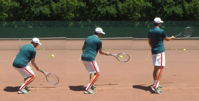 topspin forehand with leg drive