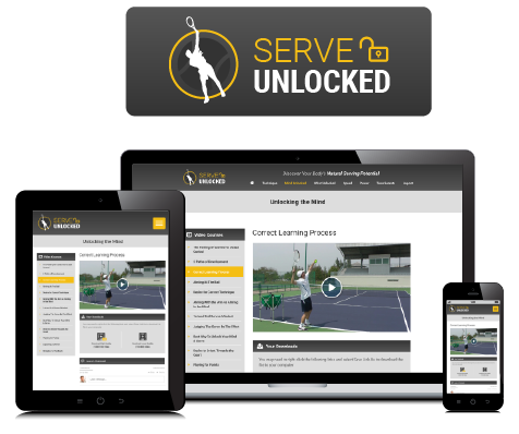 tennis serve unlocked course
