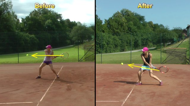 improved two-handed backhand technique