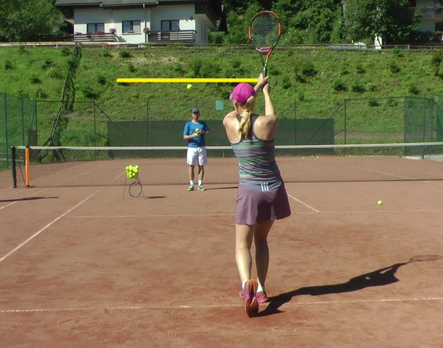 shot height of two-handed backhand