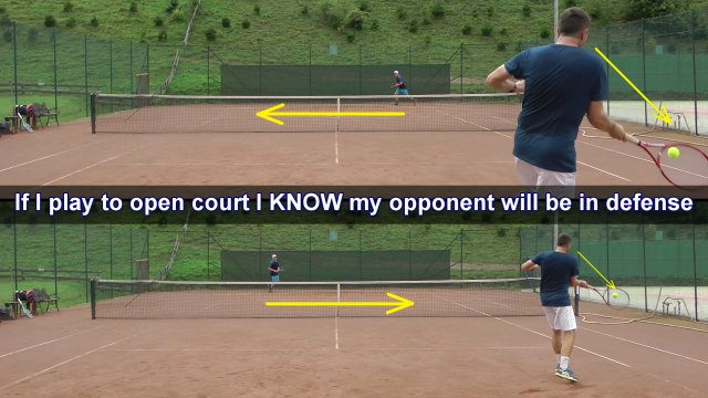 looking at the ball in tennis