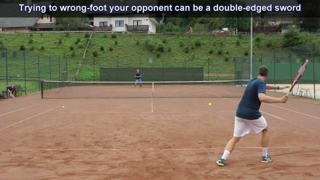wrong footing shot in tennis