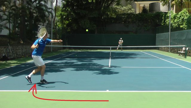 tennis footwork with small steps