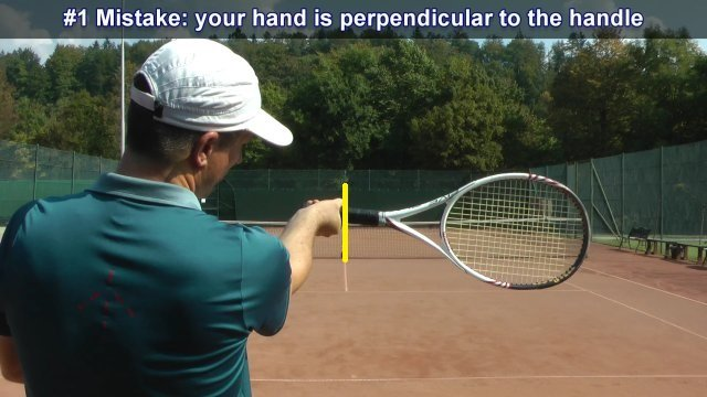 Incorrect forehand grip