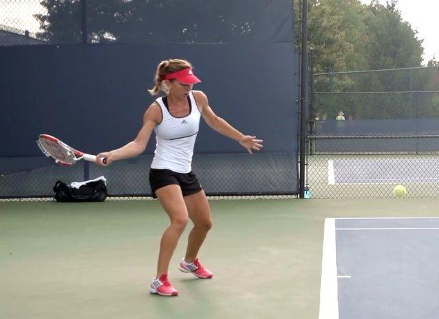 Simona Halep forehand technique